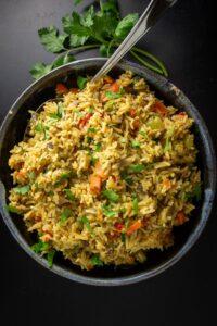 seasoned Vegetable Rice in bowl