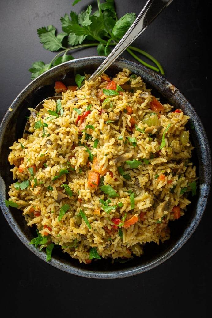 seasoned Vegetable Rice in bowl