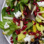 winter salad on plate P