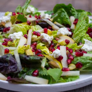 winter salad on plate 1