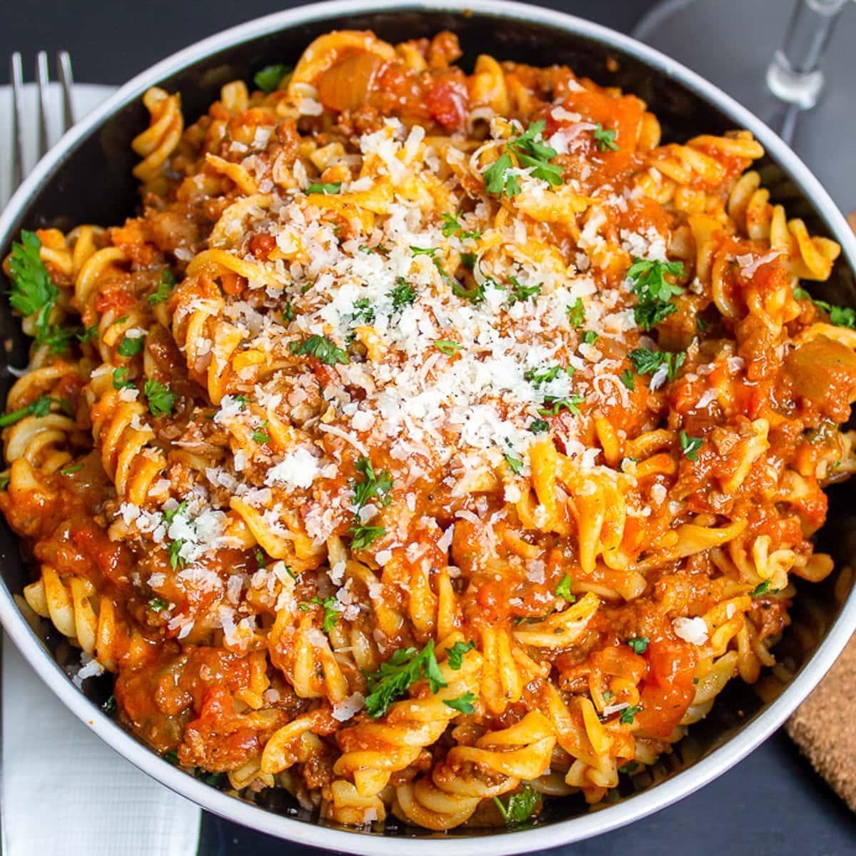 Vegetarian Bolognese (Instant Pot or Stovetop)