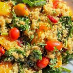 quinoa and butternut squash salad in a serving bowl p1