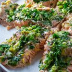 Lemon Herb Baked Trout pieces arranged on round plate p3