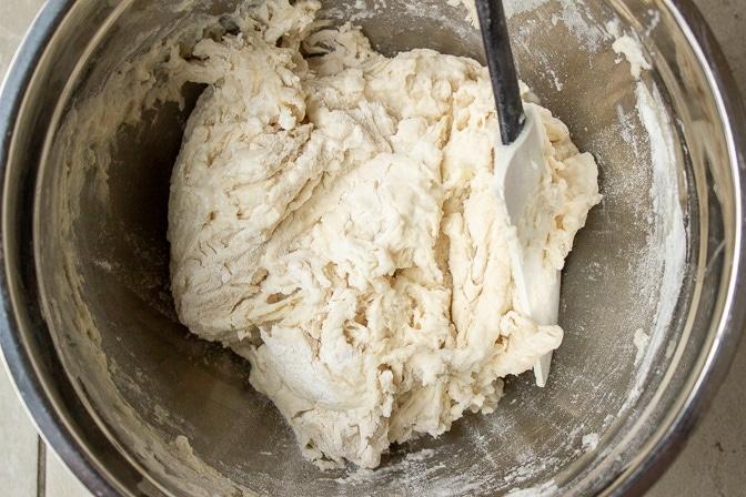 dough mixed in bowl