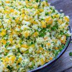 lemon herb cauliflower stir fry in a bowl p1
