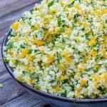 lemon herb cauliflower stir fry in a bowl p
