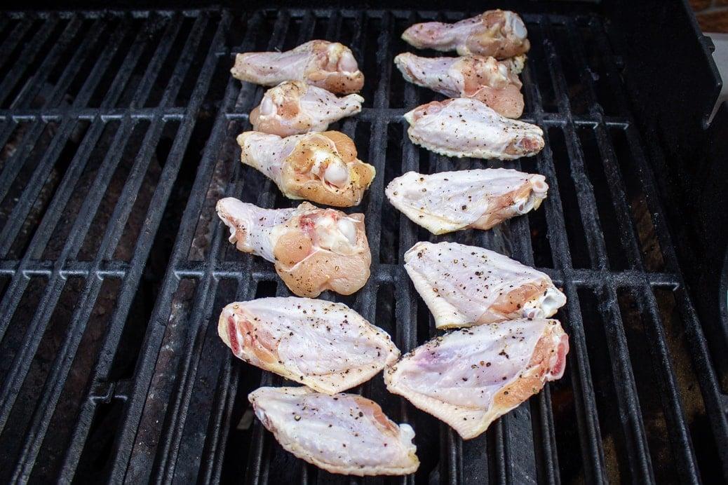 season wings on grill