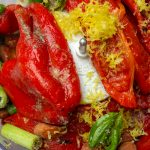 roasted red pepper sauce ingredients in processor p