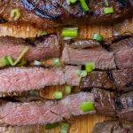 short ribs sliced and whole on cutting board p
