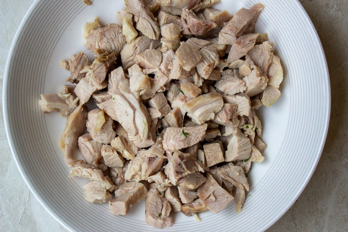chopped turkey meat