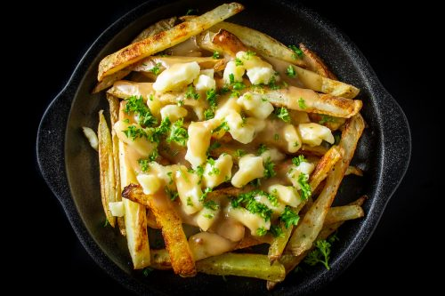 poutine on plate