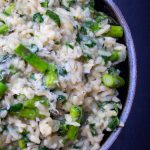 bowl of Lemon Asparagus Risotto p