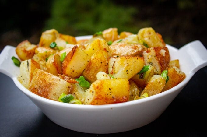 bowl of fried potatoes and onions 1