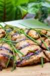 cooked chicken bulgogi on cutting board p2