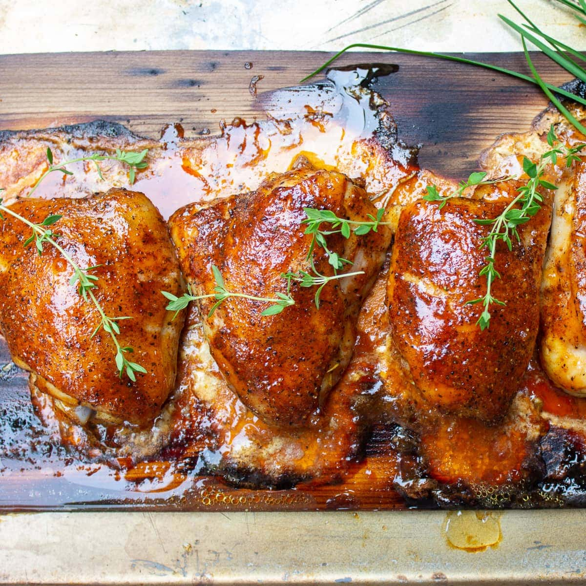Smoked Chicken Thighs Recipe (without a smoker)