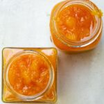 two jars of peach jam s4