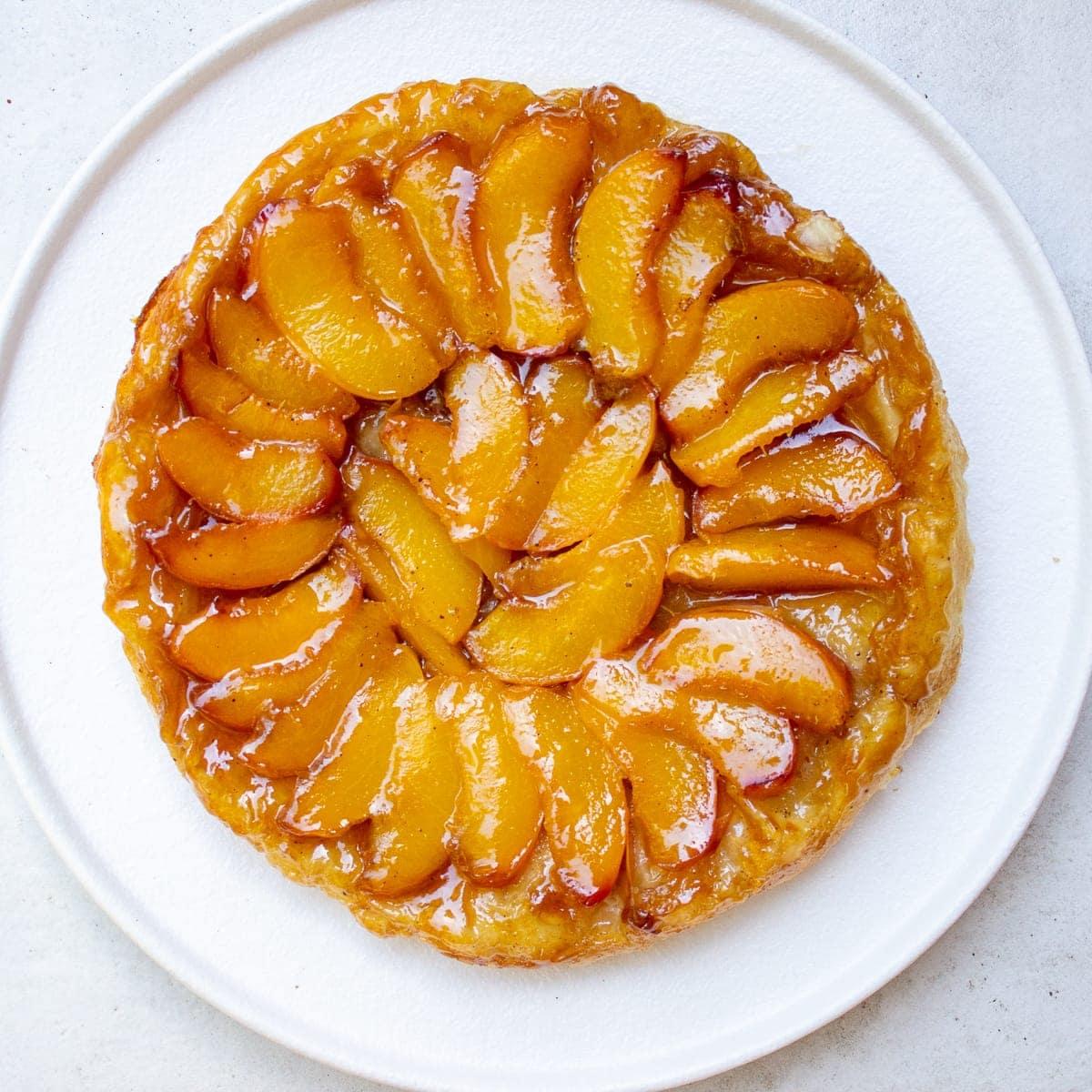 Easy Peach Tarte Titin (for beginners)