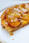 finished peach tarte titin on plate p1